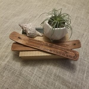Wood Bohemian Vintage Incense Holder